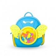Детский водонепроницаемый рюкзак для девочки NOHOO с крылышками голубой
