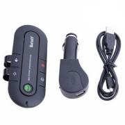 Bluetooth autós telefon kihangosító, akkumulátoros, fekete