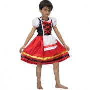 Kaku Fancy Dresses German Girl Costume for Kids/Oktoberfest Beer Costume/Cosplay Costume for Girls/California Costume -Multicolor for Girls