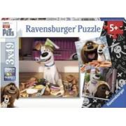 PUZZLE VIATA SECRETA A ANIMALELOR 3x49 PIESE Ravensburger