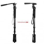 """ELECTROPRIME® 66""""/167cm Portable Camera Tripod Monopod Stand with Pan Head Carrying Bag"""