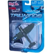 Maisto Fresh Metal Tailwinds 1:87 Scale Die Cast United States Military Aircraft : U.S. Air Force World War II Single Piston Engine Aircraft For Air and Ground Assault : P-47D Thunderbolt with Display Stand