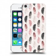Átlátszó szilikon tok az alábbi mobiltelefonokra Apple iPhone 5/5S/SE - Feather 2