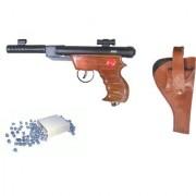 Prijam Air Gun Btpw-007 Metal Body 300 Pellets Cover Air Gun Combo Offer