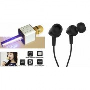 Zemini Q7 Microphone and C 100 Earphone Headset for SONY xperia t2 ultra dual(Q7 Mic and Karoke with bluetooth speaker | C 100 Earphone Headset )
