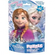 Frozen Basic Puzzle on The Go in Foil Bag (48-Piece) assorted puzzles