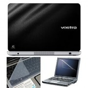 FineArts Laptop Skin 15.6 Inch With Key Guard & Screen Protector - VOSTRO Black Texture