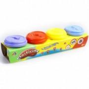 Set plastilina Mega Creative in 4 culori cu forme