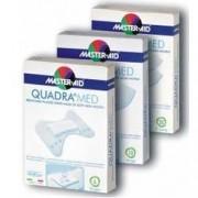 PIETRASANTA PHARMA SpA Master-Aid® Quadra Med® Cerotti In Tessuto Non Tessuto Con Tampone Disinfettante 18 Strip Mini