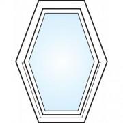 Dörrtema Fönster 3-glas energi argon 6-kant vitmålad Modul 6x8