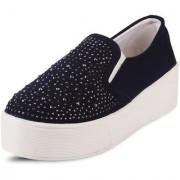 Vaniya shoes Blue Mid Calf Bootie Boots