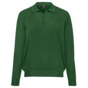 Peter Hahn Polo-Pullover Achim aus 100% Schurwolle-Merino Peter Hahn grün Herren 46 grün