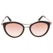 GUESS Women's Mirrored Gu7490 GU7490-01Z-51 Black Cat Eye Sunglasses