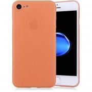 Para IPhone 8 Y 7 Frosted Protector Transparente Volver Funda (naranja)