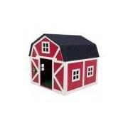 Carlu Pet House Celeiro Vermelho/Branco