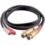 Seismic Audio SA-DRCXLF6 Premium 6 Foot Dual XLR Female to Dual RCA Male Patch Cable - XLRF to 2-RCA
