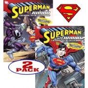 DC Comics® Superman Coloring and Activity Book Set (2 Books ~ 96 pgs each)