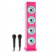 Auna Karaboom PK LED bluetooth-högtalare USB AUX karaoke 2 mikrofoner