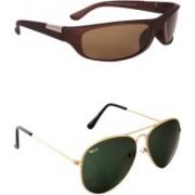 Rich Club Aviator, Sports Sunglasses(Green, Brown)