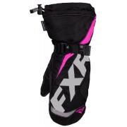 FXR Helix Race Mitt Kids Winter Gloves Black Pink M