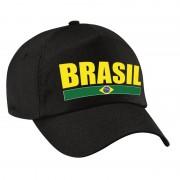 Bellatio Decorations Brasil supporter pet / cap Brazilie zwart kids