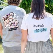 smartphoto T-shirt barn rosa Baksida 5 – 6 år