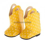 Alcoa Prime Dots Half Boots Fashion Shoes for 14'' American Girl Wellie Wisher Doll 5cm