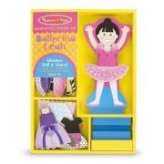 Ballerina Leah - Magnetic Dress Up Wooden Doll & Stand + FREE Melissa & Doug Scratch Art Mini-Pad Bu