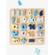 VERTBAUDET Puzzle de números bege medio liso com motivo