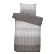 Comfort dekbedovertrek Kasper - grijs - 140x200/220 cm - Leen Bakker