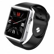 GW05 3G Wisconsin-Fi GPS Bluetooth V4.0 Reloj de telefono inteligente usable-Plata