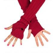 Długie rękawiczki, łapki na ręce. MITENKI, w kolorze czerwonym.