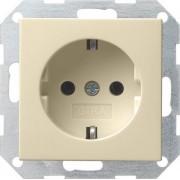 Gira Электрическая розетка Gira System 55 018801 Кремовый Глянцевый