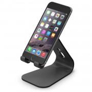 Elago M2 Stand - дизайнерска алуминиева поставка за смартфони (черна)