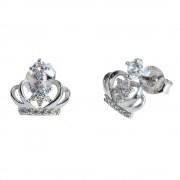 """Cercei ''Princess"""" coronita cu zirconii albe, din argint 925"""