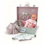 Petitcollin Doll My Little Baby in Suitcase