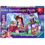 Puzzle Enchantimals 3x49 piese