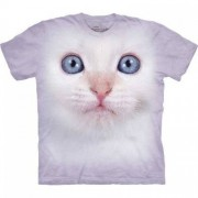 Hi-tech zvířecí trička - Kočka bílá