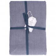 Dille&Kamille Nappe, coton, bleu chiné, 145 x 300 cm