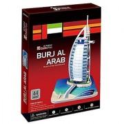 3D Burj Al Arab Dubai Jigsaw Puzzle Cubic Fun 37 Pcs - Kitchen And Home