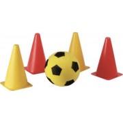 Voetbal startset - 4 pionnen met softbal