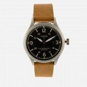 Timex Men's Waterbury Traditional Leather Strap Watch - Stainless Steel/Tan/Black