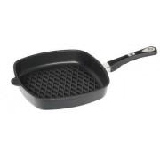 Tigaie grill AMT Gastroguss IE285BBQ, 28 cm (Negru)