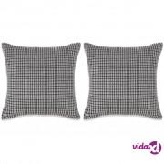vidaXL Set Jastuka 2 kom od Velura 45x45 cm Sivi