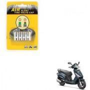 Auto Addict Scooty Tire Pressure Air Alert Iron Tyre Valve Caps Set of 4 Pcs For Hero Maestro Edge 125