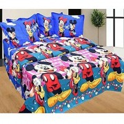 3d Double Bedsheet with 2 Pillow (Micky Mouse)