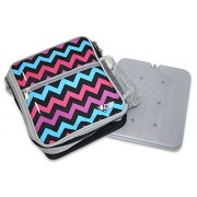 Fridge-to-go Cooler Lunch Bag - Insulated Bag Comes WITH A COOLING PANEL and keeps COOLS UP TO 8 Hrs (CHEVRON)