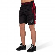Gorilla Wear Shelby Shorts - Zwart/Rood - L