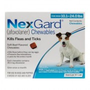 Nexgard Chewables for Medium Dogs 10.1-24 lbs (Blue) 28mg 6 CHEWS