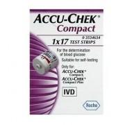 Roche Diabetes Care Italy Spa Strisce Misurazione Glicemia Accu-Chek Compact Plasma 17 Pezzi